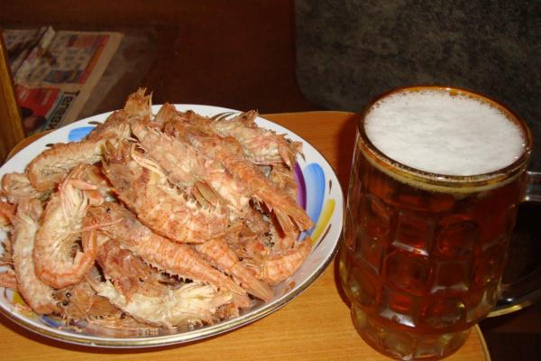 Пиво со шримсами - милое дело!