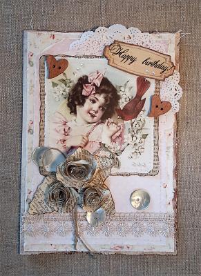 """Винтажная открытка """"С днем рожденья!"""""""