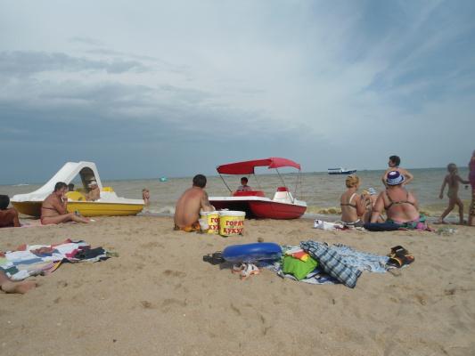 Пляж Азовского моря.
