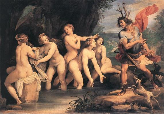 Дж. Цезари Диана и Актеон 1603