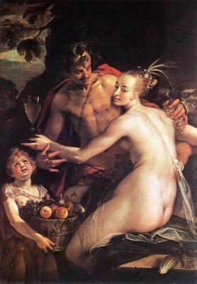 Х.фон Аахен Бахус, Церера и Купидон 1580