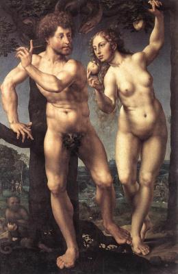 Я.Госсарт Адам и Ева
