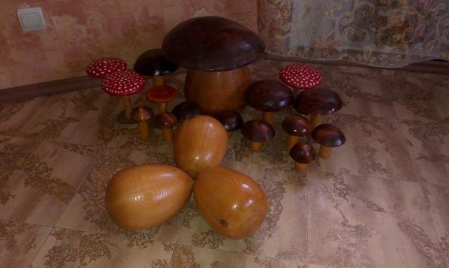грибы и яйца