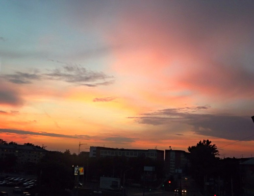 вечер закат