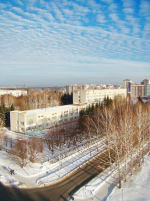 В Краснообск пришла зима.