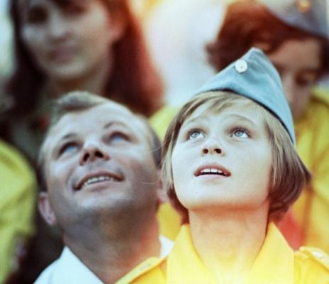 Юрий Гагарин в Артеке, 1967 г.