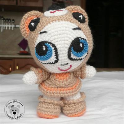 Вязаная куколка Мишель