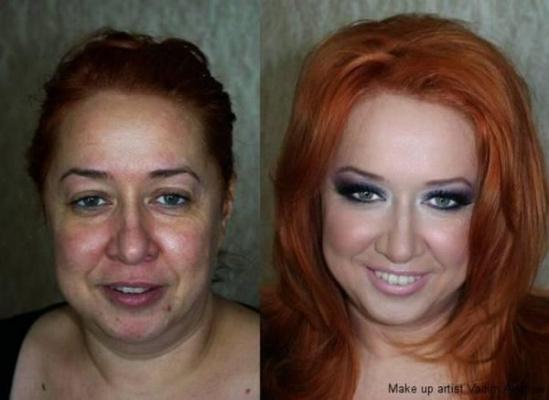 Как меняет женщину макияж...