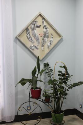 """Композиция  и  картина  с  одним  названием """"Город""""."""