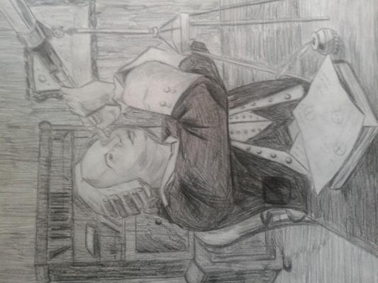 портрет Ломоносова. автор Гаврилов Кирилл 13 лет