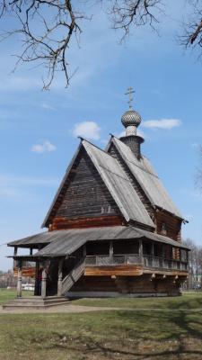 Деревянный храм в Суздальском Кремле