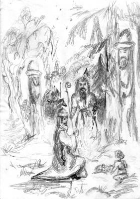 У волхвов, спасение княжича во времена крещения Руси