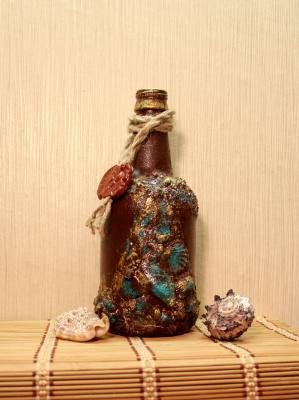 """Интерьерная бутылка """"Со дна морского"""""""