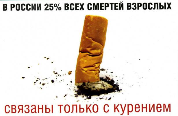 25% всех смертей взрослых в России связаны ТОЛЬКО с курением