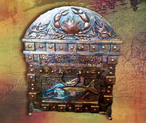 Сундук пиратский , декоративный , на радость детям