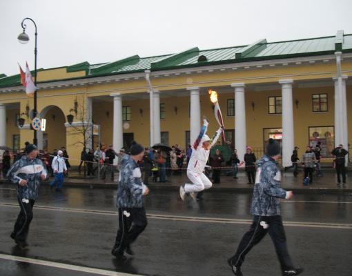 Олимпийский огонь в Кронштадте. Ура!