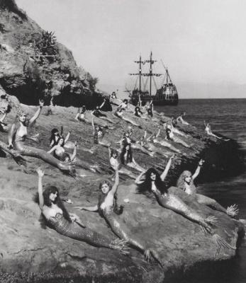 Русалки на съемках Питера Пэна, 1924 г.