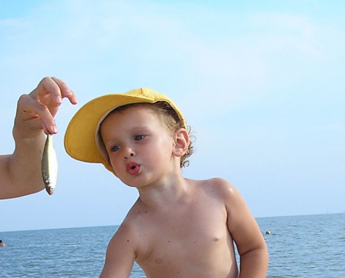 Первая рыбалка в жизни!