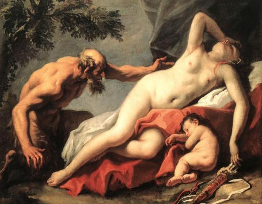 С. Риччи Венера и Сатир XVIII век