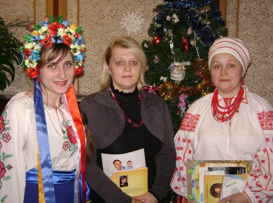 Я  с поэтессой М. Морозенко, и певицей Г. Маковськой.