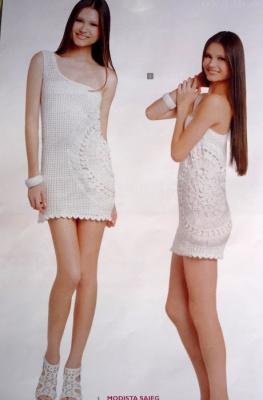 Платье (вилка +крючок).