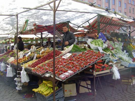 Рынок в Стокгольме