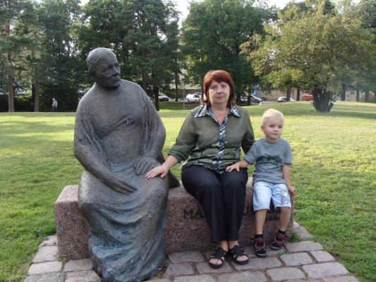 Статуя и мы :)