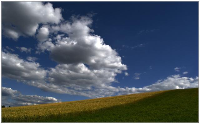 Небо поле облака