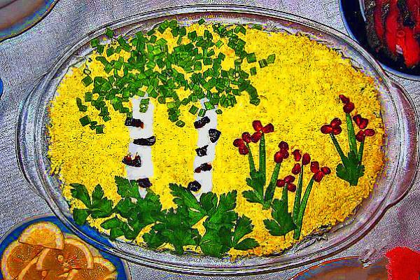 """Украшение салата """"Мимоза"""" -20"""