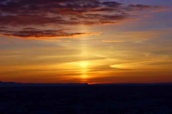 восход солнца на Таймыре