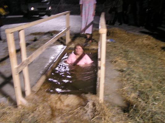 Крещение 2010г.-16 мороза...