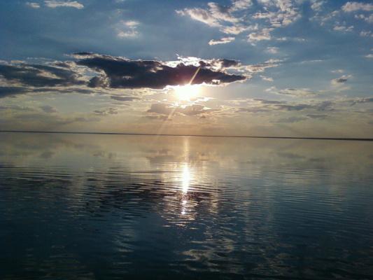 озеро Эльтон-закат