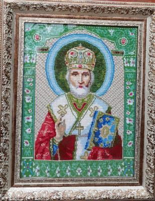 Икона Николая Чудотворца (работа моей мамочки)