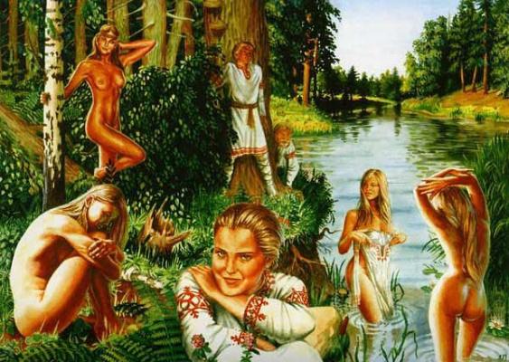 Обычай купания в день на  Ивана Купала