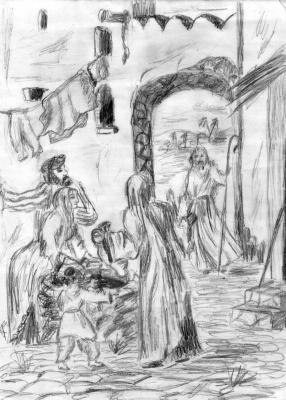 Пророк Елисей пришел в Иерихон