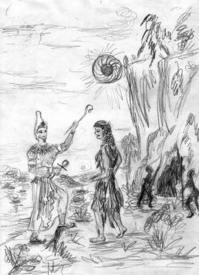 Гор - сын Осириса и дочь белой царицы Сахары