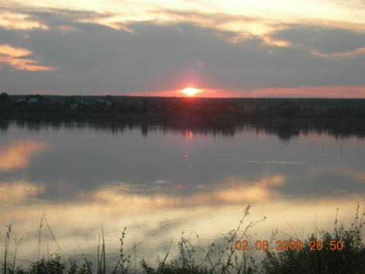 Закат на водохранилище земли Тамбовской