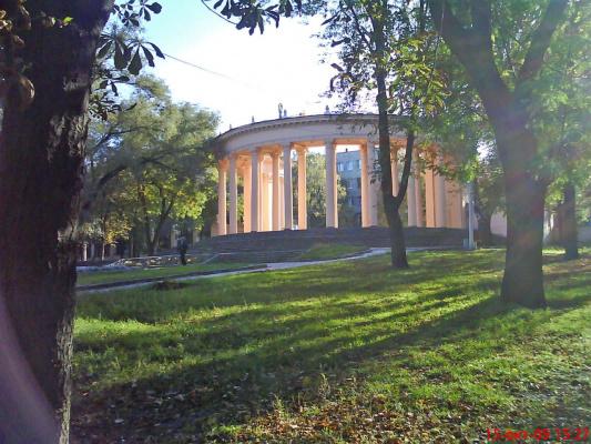 Днепропетровск. Колоннада парка Шевченко.