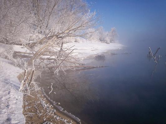 Зимний берег.