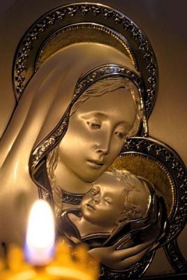 Божья мать с Иисусом!