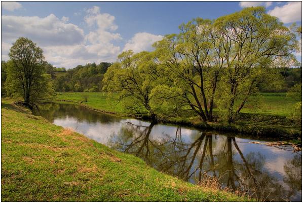 Река Истра в мае