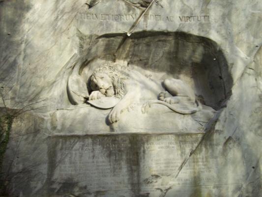 Умирающий лев в Глетчевом парке Люцерн