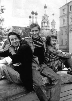 Александр Абдулов, Леонид Ярмольник и Андрей Макаревич.