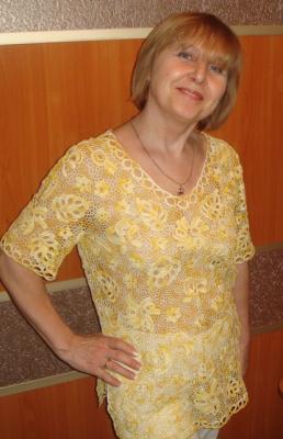 блузка в технике ирландское кружево