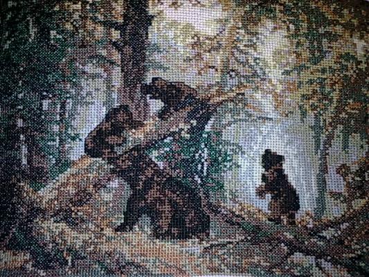 """По мотивам картины И.Шишкина """"Утро в сосновом лесу"""""""