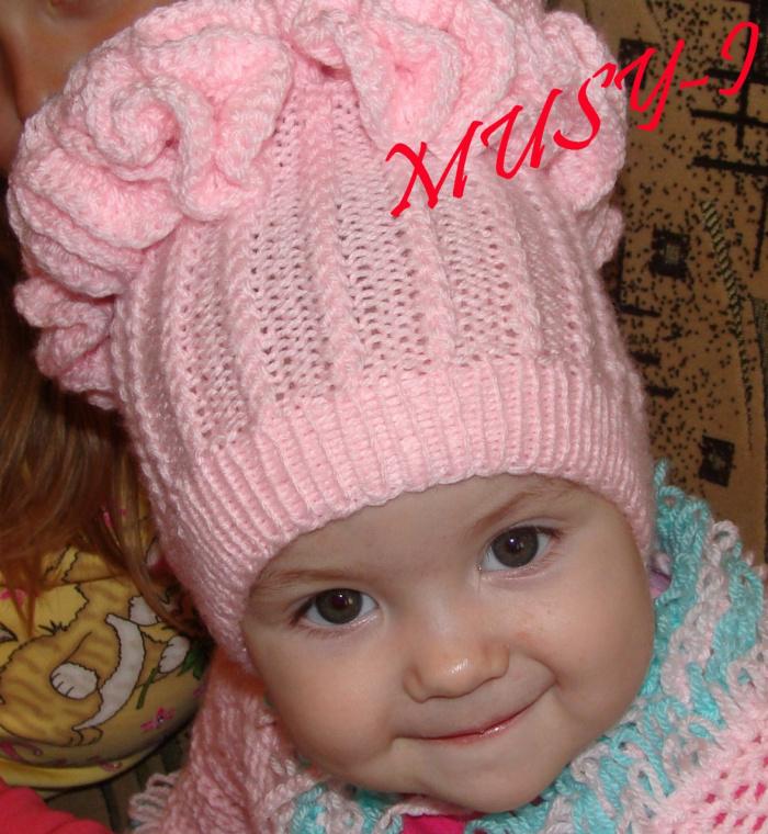 Шапочки детские вязание