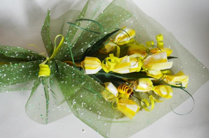 Оформление букета из конфет своими руками пошаговое фото