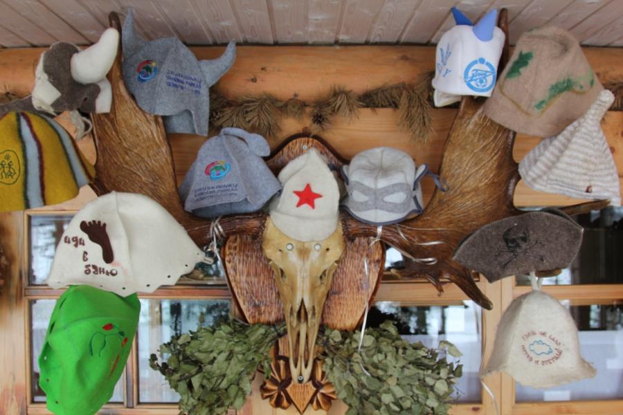 Мои банные шапченки.;)