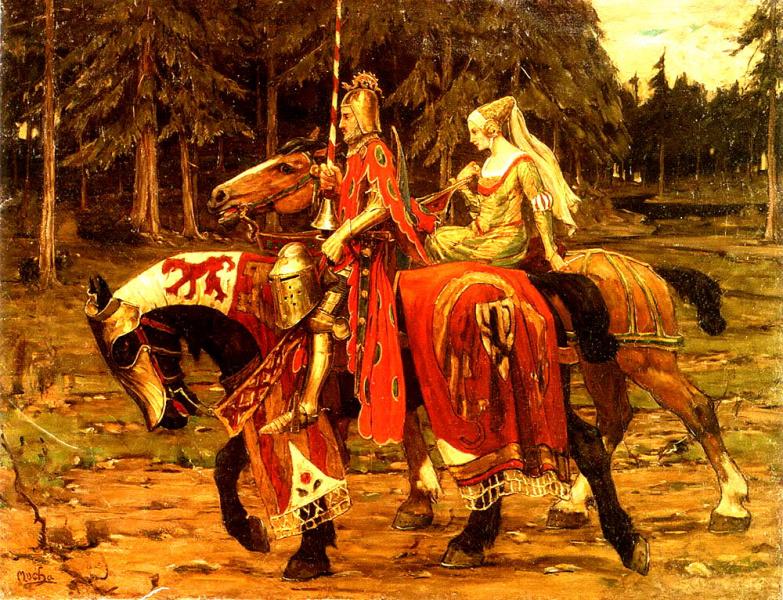 Рыцарь и знатная дама