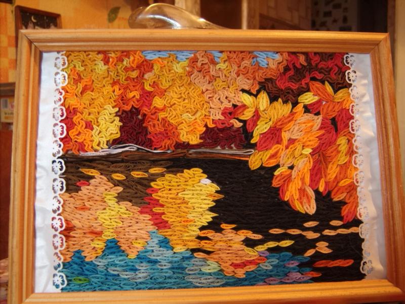 Панно своими руками на тему осень из природного материала 669